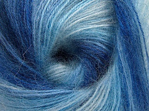 Fiber Content 75% Acrylic, 25% Angora, Brand ICE, Blue Shades, Yarn Thickness 2 Fine  Sport, Baby, fnt2-58017