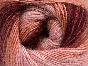 Fiber Content 75% Acrylic, 25% Angora, Salmon, Pink Shades, Brand ICE, Burgundy, Yarn Thickness 2 Fine  Sport, Baby, fnt2-58018