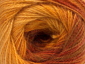 Fiber Content 75% Acrylic, 25% Angora, Yellow, Brand ICE, Gold, Brown, Yarn Thickness 2 Fine  Sport, Baby, fnt2-58021