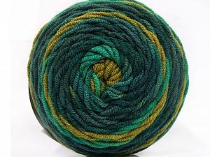 Fiber Content 100% Acrylic, Brand Ice Yarns, Green Shades, Yarn Thickness 4 Medium Worsted, Afghan, Aran, fnt2-58025
