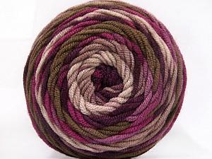 Fiber Content 100% Acrylic, Purple Shades, Brand Ice Yarns, Brown Shades, Yarn Thickness 4 Medium Worsted, Afghan, Aran, fnt2-58027