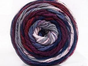Fiber Content 100% Acrylic, Navy, Maroon, Lilac, Brand Ice Yarns, Grey, Yarn Thickness 4 Medium Worsted, Afghan, Aran, fnt2-58029