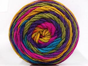 Fiber Content 100% Acrylic, Rainbow, Brand Ice Yarns, Yarn Thickness 4 Medium Worsted, Afghan, Aran, fnt2-58032