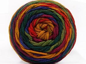Fiber Content 100% Acrylic, Red, Purple, Brand Ice Yarns, Green Shades, Gold, Yarn Thickness 4 Medium Worsted, Afghan, Aran, fnt2-58033