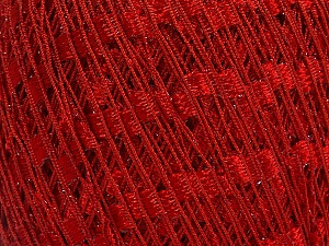 Trellis Fiber Content 95% Polyester, 5% Lurex, Red, Brand Ice Yarns, Yarn Thickness 5 Bulky Chunky, Craft, Rug, fnt2-58131