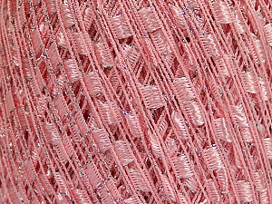 Trellis  Fiber Content 95% Polyester, 5% Lurex, Pink, Brand ICE, Yarn Thickness 5 Bulky  Chunky, Craft, Rug, fnt2-58132