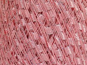 Trellis Fiber Content 95% Polyester, 5% Lurex, Pink, Brand Ice Yarns, Yarn Thickness 5 Bulky Chunky, Craft, Rug, fnt2-58132