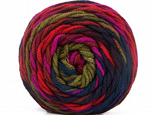 Fiber Content 100% Acrylic, Red, Purple, Brand Ice Yarns, Green, Fuchsia, Burgundy, Yarn Thickness 4 Medium Worsted, Afghan, Aran, fnt2-58137