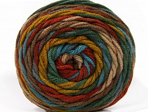 Fiber Content 100% Acrylic, Turquoise, Brand Ice Yarns, Green Shades, Brown Shades, Yarn Thickness 4 Medium Worsted, Afghan, Aran, fnt2-58139