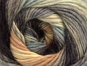 Fiber Content 70% Acrylic, 30% Wool, Brand ICE, Grey Shades, Cream, Brown, Yarn Thickness 3 Light  DK, Light, Worsted, fnt2-58144