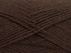 Fiber Content 50% Wool, 50% Acrylic, Brand ICE, Dark Brown, Yarn Thickness 4 Medium  Worsted, Afghan, Aran, fnt2-58182