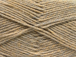 Fiber Content 50% Wool, 50% Acrylic, Brand ICE, Beige Melange, Yarn Thickness 4 Medium  Worsted, Afghan, Aran, fnt2-58185