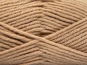 Fiber Content 72% Premium Acrylic, 3% Metallic Lurex, 25% Wool, Brand ICE, Gold, Beige, Yarn Thickness 5 Bulky  Chunky, Craft, Rug, fnt2-58198