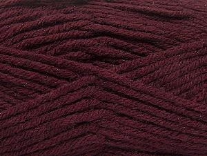 Fiber Content 72% Premium Acrylic, 3% Metallic Lurex, 25% Wool, Maroon, Brand ICE, Yarn Thickness 5 Bulky  Chunky, Craft, Rug, fnt2-58202