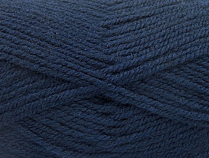 Fiber Content 50% Wool, 50% Acrylic, Navy, Brand ICE, Yarn Thickness 4 Medium  Worsted, Afghan, Aran, fnt2-58227