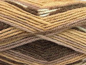 Fiber Content 50% Wool, 50% Acrylic, Brand Ice Yarns, Brown Shades, Yarn Thickness 4 Medium Worsted, Afghan, Aran, fnt2-58276