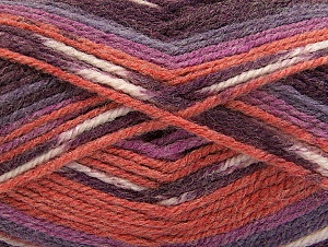 Fiber Content 50% Wool, 50% Acrylic, Maroon, Lilac Shades, Brand ICE, Cafe Latte, Yarn Thickness 4 Medium  Worsted, Afghan, Aran, fnt2-58281