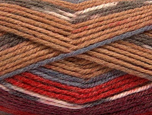 Fiber Content 50% Wool, 50% Acrylic, Red, Brand ICE, Grey, Camel, Burgundy, Yarn Thickness 4 Medium  Worsted, Afghan, Aran, fnt2-58282