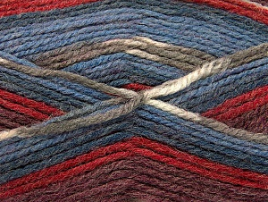Fiber Content 50% Wool, 50% Acrylic, Red, Khaki, Brand ICE, Burgundy, Blue Shades, Yarn Thickness 4 Medium  Worsted, Afghan, Aran, fnt2-58283