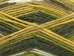 Fiber Content 50% Wool, 50% Acrylic, Brand Ice Yarns, Green Shades, Yarn Thickness 4 Medium Worsted, Afghan, Aran, fnt2-58286