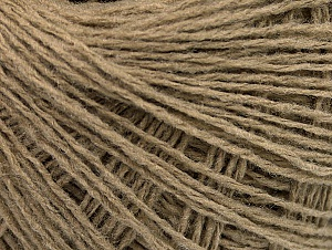 Fiber Content 50% Wool, 50% Acrylic, Brand ICE, Beige, Yarn Thickness 2 Fine  Sport, Baby, fnt2-58294