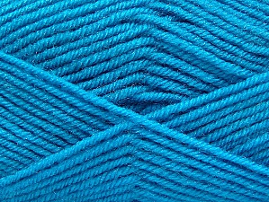 Fiber Content 60% Acrylic, 40% Wool, Turquoise, Brand ICE, Yarn Thickness 3 Light  DK, Light, Worsted, fnt2-58343