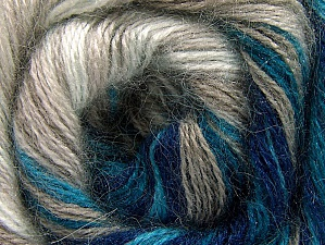 Fiber Content 50% Mohair, 50% Acrylic, White, Turquoise, Navy, Brand ICE, Beige, Yarn Thickness 2 Fine  Sport, Baby, fnt2-58360
