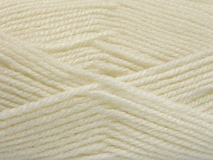 Fiber Content 50% Wool, 50% Acrylic, White, Brand ICE, Yarn Thickness 4 Medium  Worsted, Afghan, Aran, fnt2-58367