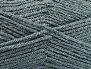 Fiber Content 50% Wool, 50% Acrylic, Brand ICE, Grey, Yarn Thickness 4 Medium  Worsted, Afghan, Aran, fnt2-58372