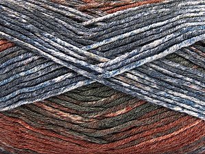 Fiber Content 50% Premium Acrylic, 50% Cotton, Brand ICE, Grey Shades, Brown Shades, Yarn Thickness 2 Fine  Sport, Baby, fnt2-58411