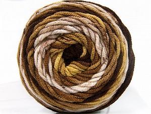 Fiber Content 100% Acrylic, Brand Ice Yarns, Gold, Brown Shades, Yarn Thickness 4 Medium Worsted, Afghan, Aran, fnt2-58456