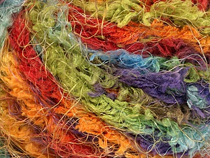 Fiber Content 100% Polyamide, Rainbow, Brand ICE, Yarn Thickness 6 SuperBulky Bulky, Roving, fnt2-58558