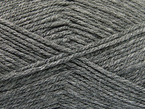 Worsted  Fiber Content 100% Acrylic, Brand ICE, Grey, Yarn Thickness 4 Medium  Worsted, Afghan, Aran, fnt2-58559