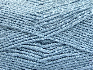 Fiber Content 50% Wool, 50% Acrylic, Light Blue, Brand ICE, Yarn Thickness 4 Medium  Worsted, Afghan, Aran, fnt2-58561