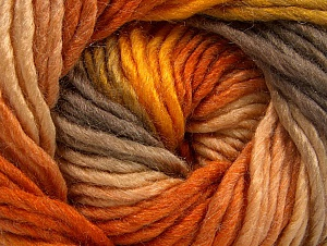Fiber Content 50% Wool, 50% Acrylic, Orange, Brand ICE, Gold, Camel, Yarn Thickness 5 Bulky  Chunky, Craft, Rug, fnt2-58581