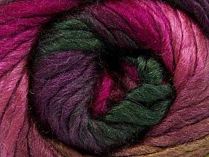 Contenido de fibra 50% Acrílico, 50% Lana, Purple, Pink, Brand ICE, Fuchsia, Dark Green, fnt2-58584