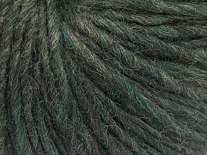 Fiber Content 50% Merino Wool, 25% Acrylic, 25% Alpaca, Brand ICE, Dark Green Melange, Yarn Thickness 5 Bulky  Chunky, Craft, Rug, fnt2-58926