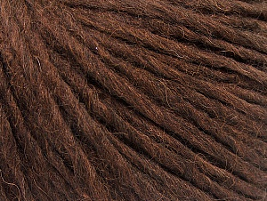 Fiber Content 50% Merino Wool, 25% Alpaca, 25% Acrylic, Brand ICE, Dark Brown, Yarn Thickness 4 Medium  Worsted, Afghan, Aran, fnt2-59038