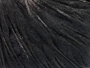 Fiber Content 50% Wool, 50% Polyamide, Brand ICE, Black, Yarn Thickness 3 Light  DK, Light, Worsted, fnt2-59044