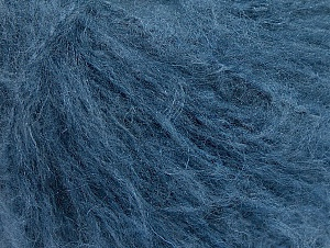 Fiber Content 70% Acrylic, 20% Mohair, 10% Wool, Brand ICE, Blue, Yarn Thickness 3 Light  DK, Light, Worsted, fnt2-59087
