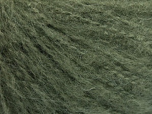 Fiber Content 70% Acrylic, 20% Mohair, 10% Wool, Khaki, Brand ICE, Yarn Thickness 3 Light  DK, Light, Worsted, fnt2-59089