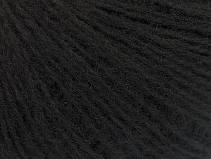 Fiber Content 55% Acrylic, 5% Polyester, 15% Alpaca, 15% Wool, 10% Viscose, Brand ICE, Black, Yarn Thickness 2 Fine  Sport, Baby, fnt2-59203