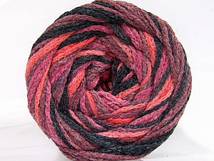 Fiber Content 50% Acrylic, 50% Polyamide, Salmon, Maroon, Brand ICE, Black, Yarn Thickness 5 Bulky  Chunky, Craft, Rug, fnt2-59345