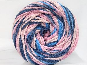 Fiber Content 50% Acrylic, 50% Polyamide, Pink Shades, Brand Ice Yarns, Blue Shades, Yarn Thickness 5 Bulky Chunky, Craft, Rug, fnt2-59348