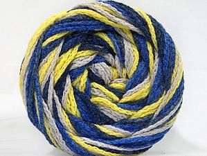 Fiber Content 50% Acrylic, 50% Polyamide, Neon Yellow, Brand Ice Yarns, Blue Shades, Beige, Yarn Thickness 5 Bulky Chunky, Craft, Rug, fnt2-59352