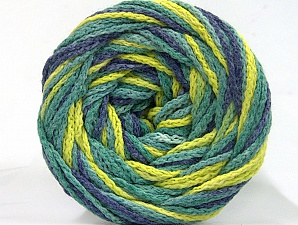 Fiber Content 50% Polyamide, 50% Acrylic, Jeans Blue, Brand Ice Yarns, Green Shades, Yarn Thickness 5 Bulky Chunky, Craft, Rug, fnt2-59353