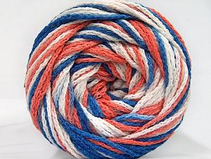 Fiber Content 50% Polyamide, 50% Acrylic, White, Salmon, Brand Ice Yarns, Blue, Yarn Thickness 5 Bulky Chunky, Craft, Rug, fnt2-59355