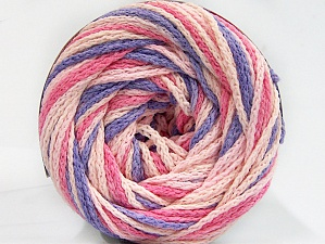 Fiber Content 50% Acrylic, 50% Polyamide, Pink Shades, Lilac, Brand ICE, Yarn Thickness 5 Bulky  Chunky, Craft, Rug, fnt2-59359
