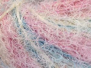 Fiber Content 40% Viscose, 30% Polyamide, 30% Wool, White, Pink, Lilac, Brand Ice Yarns, Blue, Yarn Thickness 5 Bulky Chunky, Craft, Rug, fnt2-59582