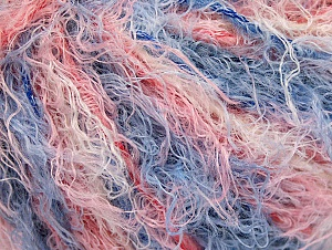 Fiber Content 40% Viscose, 30% Wool, 30% Polyamide, Salmon Shades, Brand ICE, Blue, Yarn Thickness 5 Bulky  Chunky, Craft, Rug, fnt2-59587